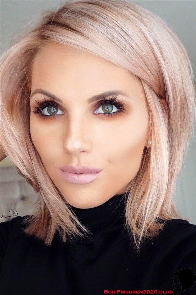 Kurze Haare Bob Frisuren Blond Pink Haarfarben