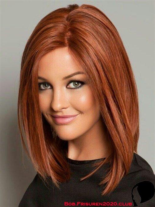 Rote Bob Frisuren Damen