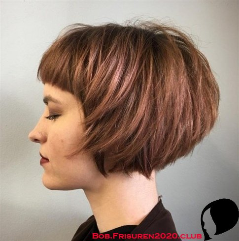 Schicke Bob Frisuren Rote Haarfarbe