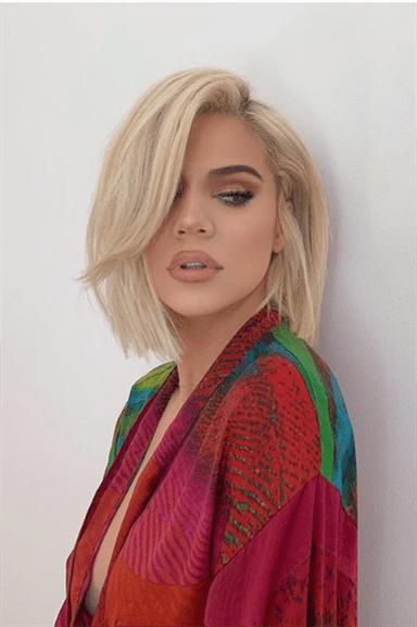 Bob Frisuren Blond Khloe Kardashian