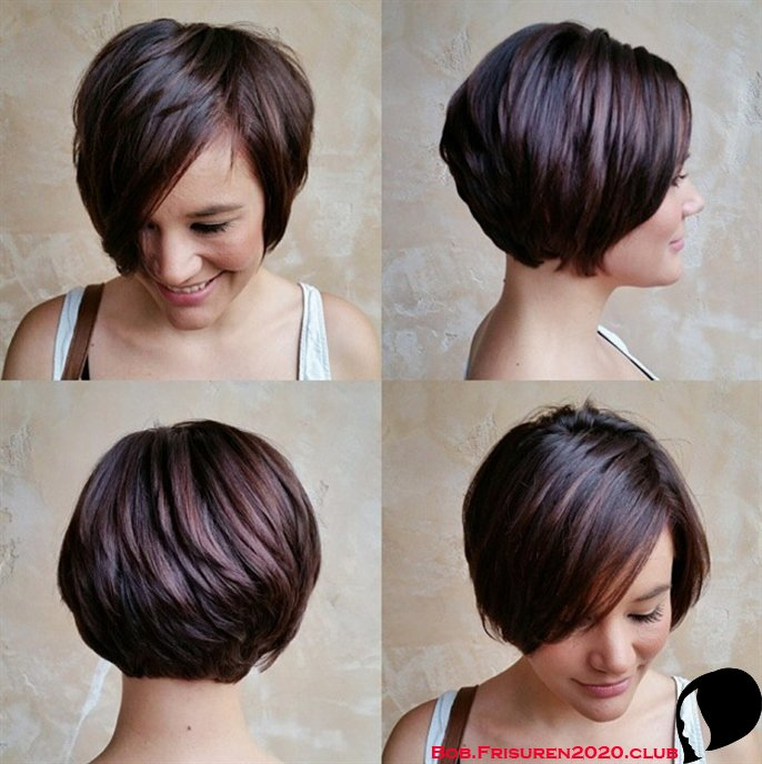 Beste schicke Kurzhaarfrisuren für dickes brünettes Haar